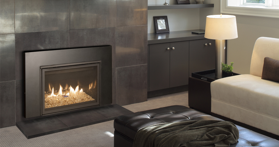 Real Fyre Direct Vent Contemporary Gas Insert - Bay Area Fireplace